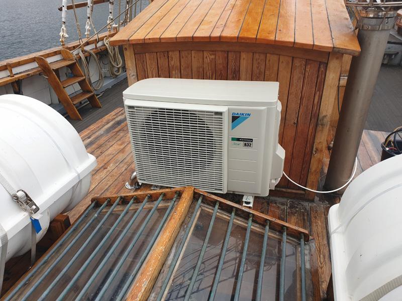 Luft luft värmepump på båt