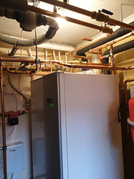 Nymonterad luftvattenanläggning