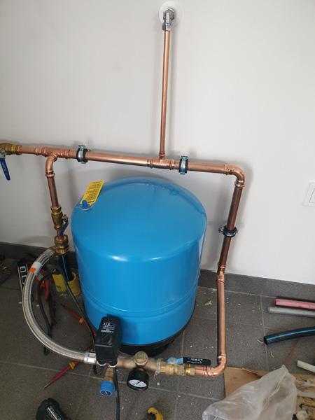 Nymontering av hydropress